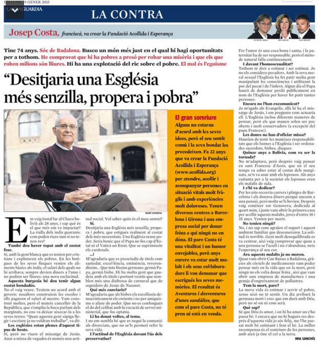 Publicada a la Vanguardia el 19.1.2015